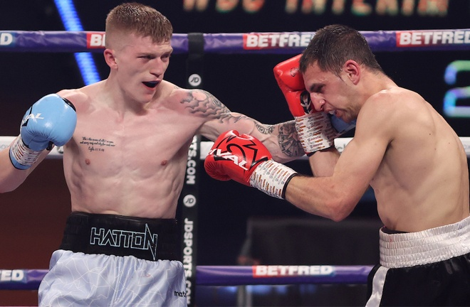 Campbell Hatton secured his first professional victory Photo Credit: Mark Robinson/Matchroom Boxing