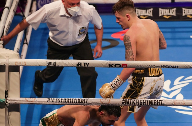 McGregor dropped Guerfi three times in a first round demolition Photo Credit: Scott Rawsthorne/MTK Global