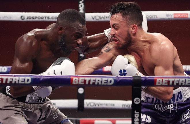 Michael McKinson claimed a hard-fought unanimous decision win over Chris Kongo Photo Credit: Mark Robinson/Matchroom Boxing