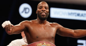 Lawrence Okolie became WBO Cruiserweight world champion with a sixth round stoppage of Krzysztof Glowacki on Saturday Photo Credit: Dave Thompson/Matchroom Boxing
