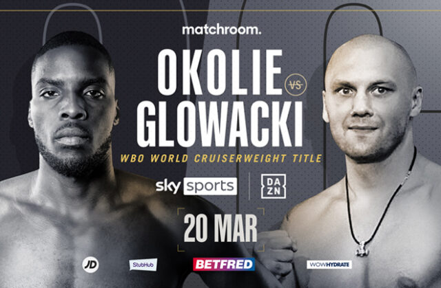 Lawrence Okolie clashes with former two-time world champion Krzysztof Glowacki for the vacant WBO Cruiserweight title on Saturday night