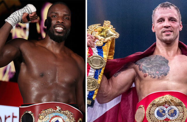 Lawrence Okolie is keen to face IBF champion Mairis Briedis after winning the WBO cruiserweight title Photo Credit: Mark Robinson/Matchroom Boxing/World Boxing Super Series