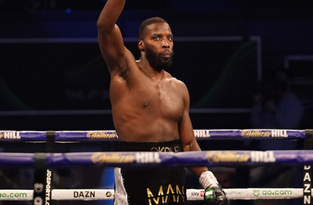 Lawrence Okolie faces Krzysztof Glowacki for the vacant WBO Cruiserweight title on Saturday Photo Credit: Dave Thompson/Route One Photography Ltd/Matchroom Boxing