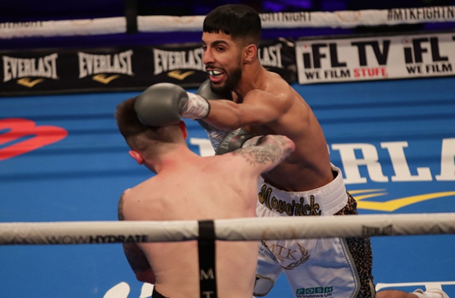 McGregor's stablemate Shabouz Masoud picked up his second stoppage win Photo Credit: Scott Rawsthorne/MTK Global