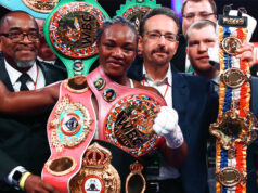 Claressa Shields became undisputed Super Welterweight champion in Michigan on Friday Photo Credit: Stephanie Trapp