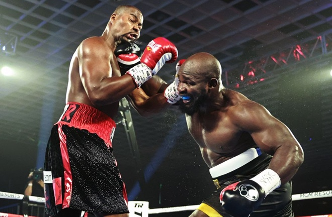 Carlos Takam defeated Jerry Forrest in July Photo Credit: Mikey Williams/Top Rank