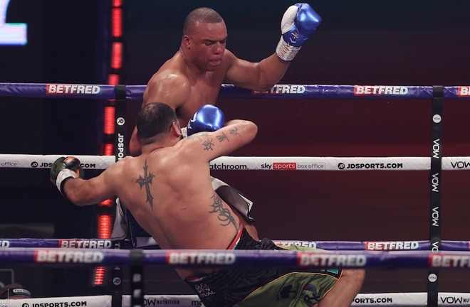 Fabio Wardley stopped former two-time world title challenger Eric Molina in five rounds to remain unbeaten Photo Credit: Mark Robinson/Matchroom Boxing