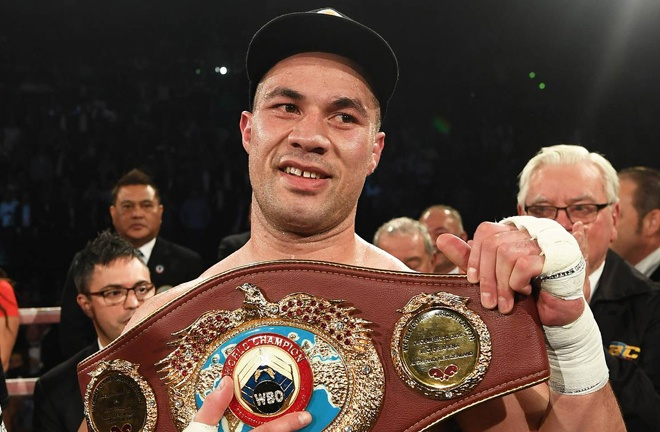 Parker claimed the WBO Heavyweight title under Barry's guidance Photo Credit: Photosport