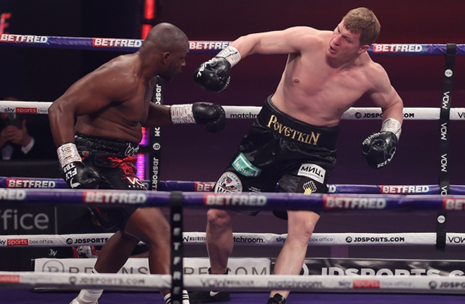 Whyte had Povetkin hurt throughout Photo Credit: Mark Robinson/Matchroom Boxing