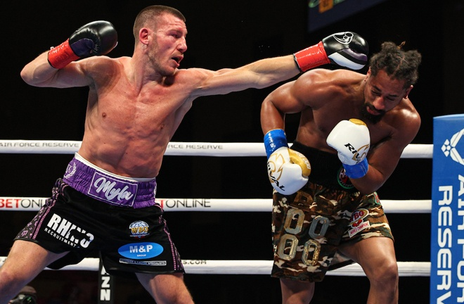 The American proved elusive and hard for the challenger to nail clean at times Photo Credit: Ed Mulholland/Matchroom