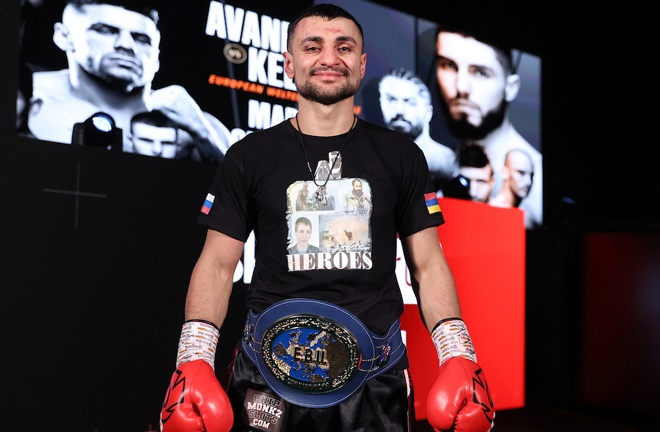 Avanesyan has made three defences of his European Welterweight title Photo Credit: Mark Robinson/Matchroom Boxing