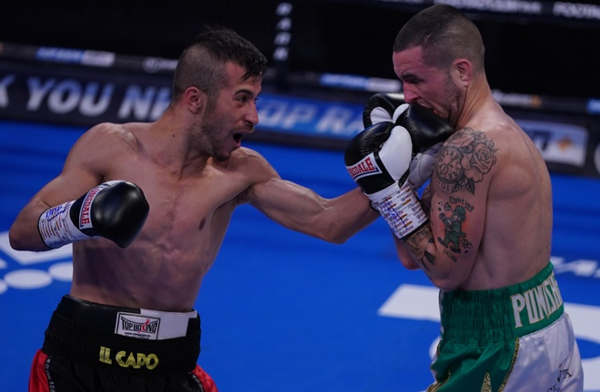 Baluta halted David Oliver Joyce in three rounds in September Photo Credit: Round 'N' Bout Media/Queensberry Promotions