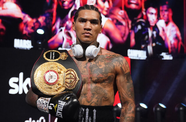 Conor Benn will look forward to a big 2021 after retaining his WBA Continental Welterweight title with a first round stoppage of Samuel Vargas Photo Credit: Dave Thompson/Matchroom Boxing