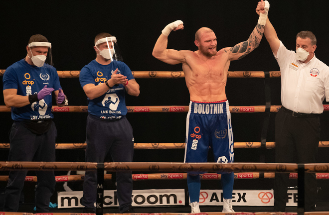 Bolotniks is highly ranked in the WBO and IBF Photo Credit: Scott Rawsthorne/MTK Global