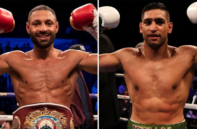 Khan is targeting a long-awaited showdown with Kell Brook Photo Credit: Mark Robinson/Matchroom Boxing