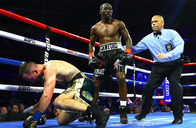 WBO Welterweight champion, Terence Crawford stopped him in nine rounds in 2019 Photo Credit: Mikey Williams/Top Rank