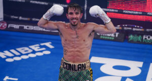 Michael Conlan returns to action against Ionut Baluta on Friday night Photo Credit: Round 'N' Bout Media/Queensberry Promotions