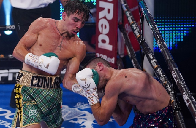 Conlan stopped Sofiane Takoucht in the final round in August Photo Credit: Round 'N' Bout Media/Queensberry Promotions