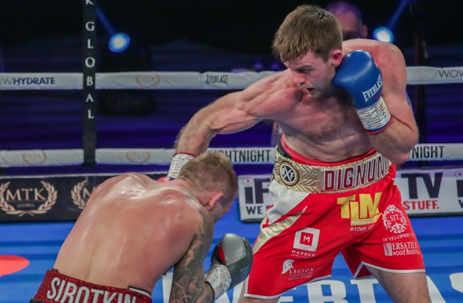Dignum retained his WBO European Middleweight crown despite the draw Photo Credit: Scott Rawsthorne/MTK Global