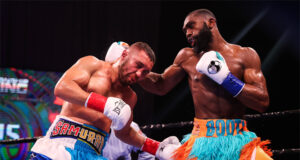 Welterweight talent Jaron Ennis stopped Sergey Lipinets in six rounds in Connecticut Photo Credit: Amanda Westcott/SHOWTIME