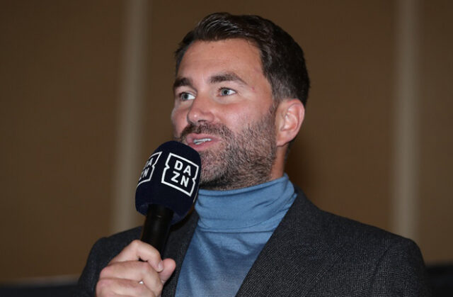 Eddie Hearn has signed a deal with DAZN to make the streaming service Matchroom Boxing's exclusive UK broadcaster, according to reports Photo Credit: Ed Mulholland/Matchroom Boxing