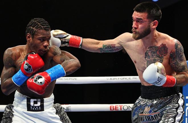 Otha Jones III suffered his first professional loss to Jorge David Castaneda Photo Credit: Ed Mulholland/Matchroom