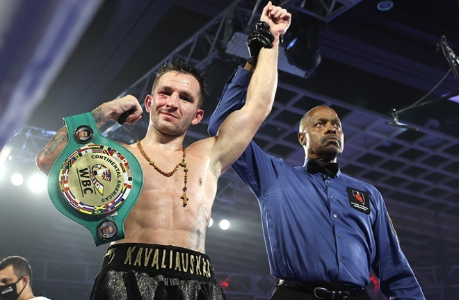 Kavaliauskas is highly-ranked with the WBO Photo Credit: Mikey Williams/Top Rank