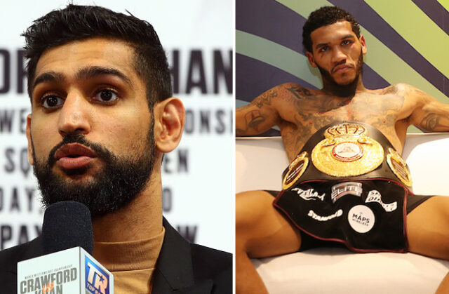 Amir Khan says Conor Benn can become a world champion, but believes he is taking a big step-up against Samuel Vargas on Saturday Photo Credit: Mikey Williams/Top Rank/Mark Robinson/Matchroom Boxing