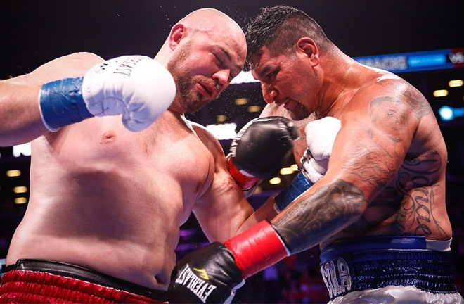 Arreola and Kownacki threw a CompuBox record combined number of punches Photo Credit: Stephanie Trapp/TGB Promotions