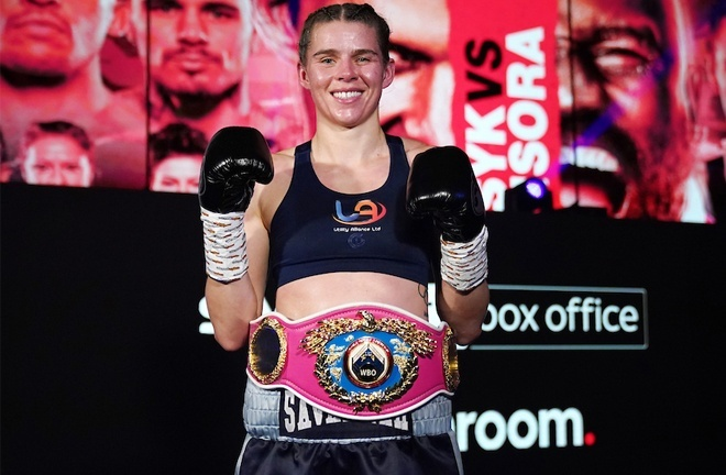 WBO Light Heavyweight champion Savannah Marshall is awaiting news on her first defence Photo Credit: Dave Thompson/Matchroom Boxing