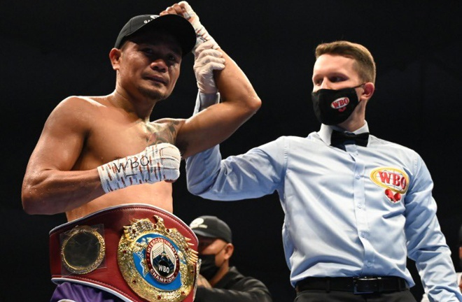 Four-weight world champion, Donnie Nietes beat Pablo Carrillo on his return Photo Credit: D4G Promotions