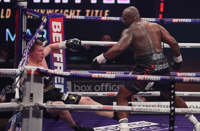 Whyte gained revenge over Povetkin, stopping the Russian in four rounds in Gibraltar in March Photo Credit: Mark Robinson/Matchroom Boxing