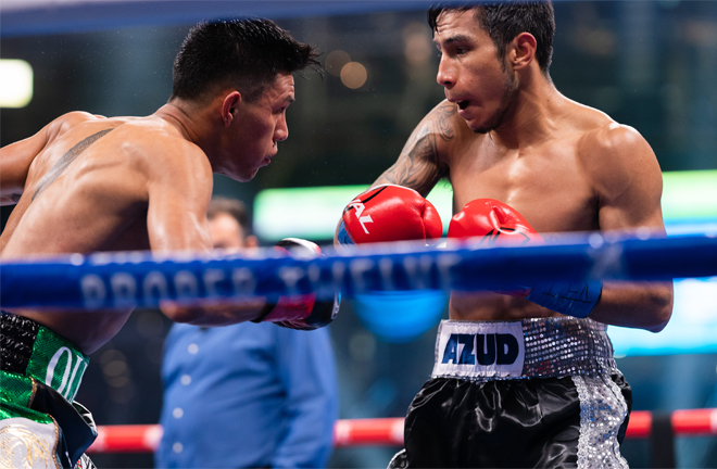 Eduardo Ramirez stopped Miguel Flores in December in Texas Photo Credit: Ryan Hafey/Premier Boxing Champions