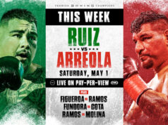 Andy Ruiz Jr fights for the first time since defeat in his rematch to Anthony Joshua against Chris Arreola in California on Saturday