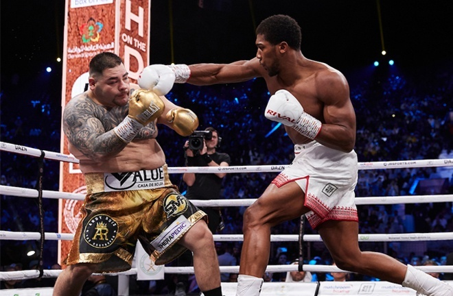 Ruiz was convincingly beaten in the rematch in Saudi Arabia in December 2019 Photo Credit: Mark Robinson/Matchroom Boxing