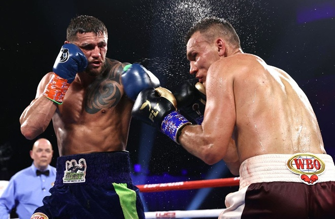 Joe Smith Jr became the new WBO Light Heavyweight world champion with a majority decision win over Maxim Vlasov in Tulsa Photo Credit: Mikey Williams/Top Rank via Getty Images