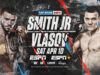 Joe Smith Jr faces Maxim Vlasov for the vacant WBO Light Heavyweight title on Saturday night