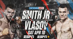 Joe Smith Jr faces Maxim Vlasov for the vacant WBO Light Heavyweight title on Saturday night