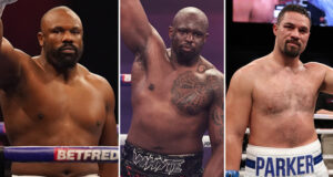 Dillian Whyte has given his thoughts as his former rivals Derek Chisora and Joseph Parker collide on Saturday night Photo Credit: Mark Robinson/Dave Thompson/Ed Mulholland/Matchroom Boxing