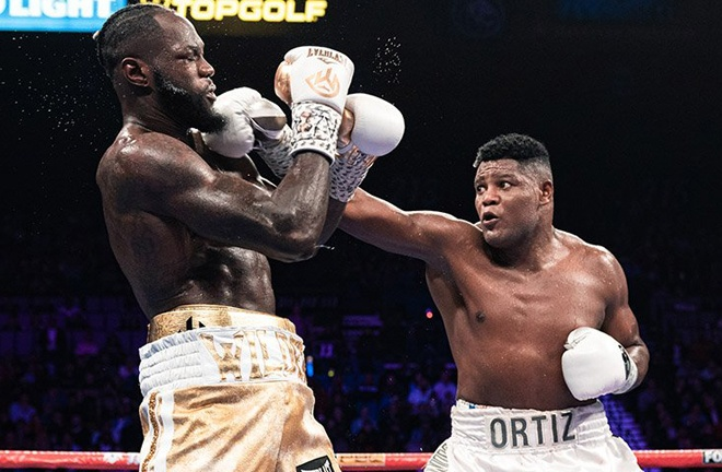 Ortiz's only losses have come to Deontay Wilder Photo Credit: Ryan Hafey/Premier Boxing Champions