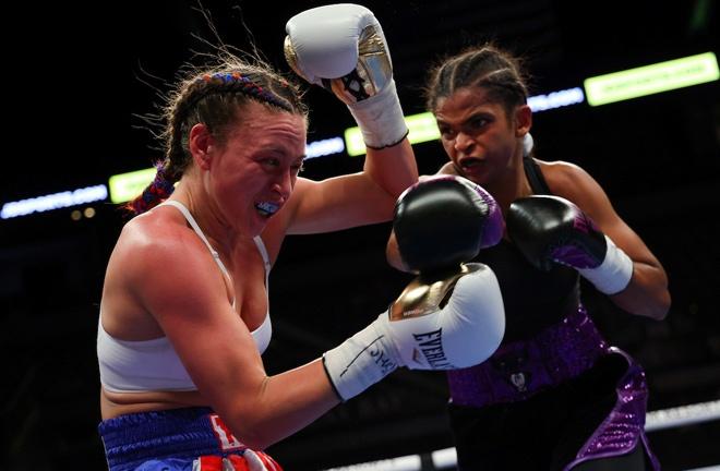 Ramla Ali picked up her third professional win Photo Credit: Ed Mulholland/Matchroom