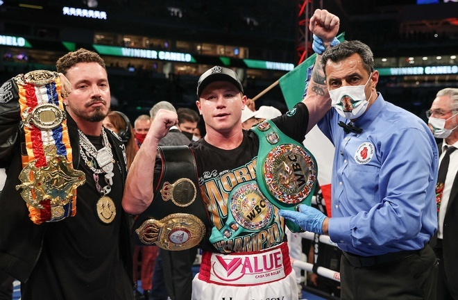 Canelo puts his WBC and WBA 'Super' Super Middleweight world titles on the line Photo Credit: Ed Mulholland/Matchroom