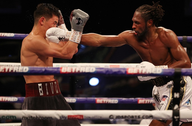 Richards remained competitive throughout his clash with Bivol Photo Credit: Mark Robinson/Matchroom Boxing