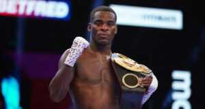 Joshua Buatsi made a sixth defence of his WBA International Light Heavyweight title after stopping Daniel Dos Santos on Saturday Photo Credit: Dave Thompson/Matchroom Boxing