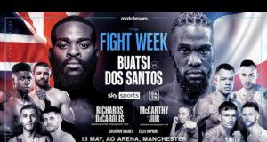 Joshua Buatsi defends his WBA International Light Heavyweight title against Daniel Blenda Dos Santos in Manchester on Saturday