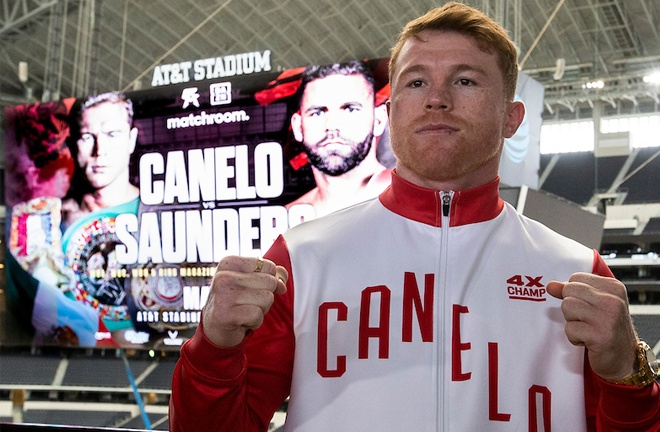 Canelo has been undefeated since his only loss to Floyd Mayweather Jr in 2013 Photo Credit: Michelle Farsi/Matchroom