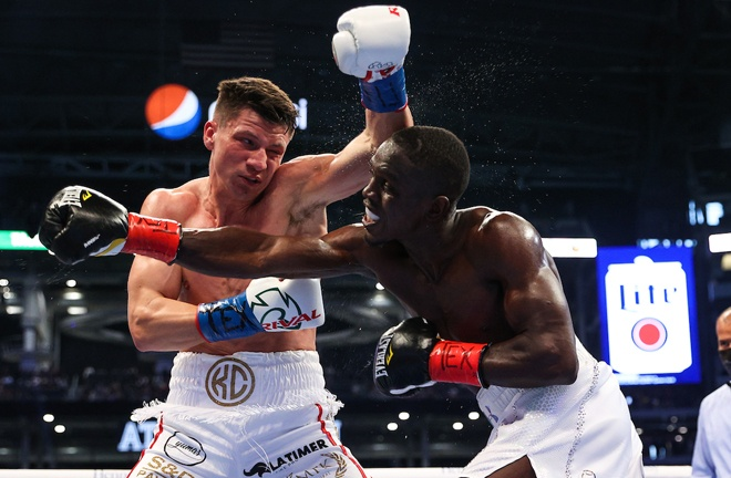 Conway dropped Cissokho in the ninth round Photo Credit: Ed Mulholland/Matchroom