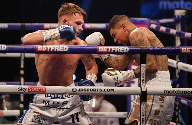 Dalton Smith saw off Ismael Ellis in three rounds in February Photo Credit: Dave Thompson/Matchroom Boxing
