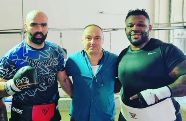 Bogdan Dinu has been sparring with Jarrell Miller ahead of his fight with Daniel Dubois Photo Credit: Instagram @bogdandinu1