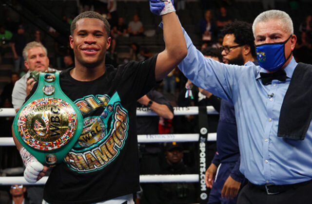 Devin Haney defended his WBC Lightweight world title with a unanimous decision win over Jorge Linares in Las Vegas on Saturday Photo Credit: Ed Mulholland/Matchroom